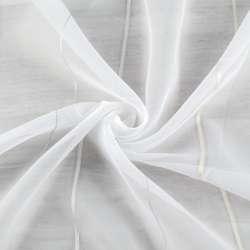 Вуаль тюль шифон смужки кремова і срібляста, біла з обважнювачем, ш.260