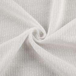 Вуаль біла в ниткову узелковую смужку з обважнювачем ш.280
