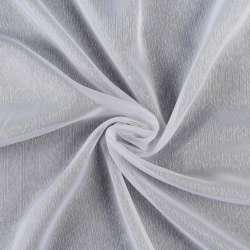Вуаль жакардова біла з дрібними штрихами з обважнювачем, ш.180