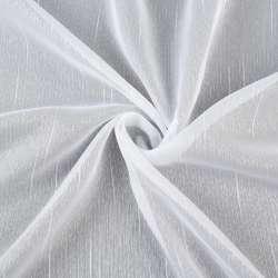 Вуаль тюль шифон штрихи ниткові, біла з обважнювачем, ш.180