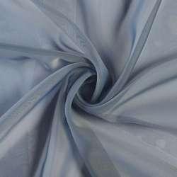 Вуаль сіро-синя з обважнювачем, ш.300