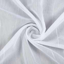 Вуаль біла в ниткові смуги з ущільненням, ш.260