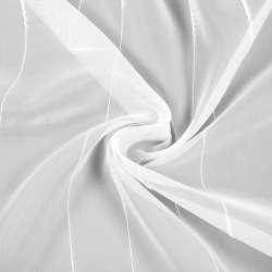 Вуаль біла з нитковим смугами з ущільненнями, з обважнювачем, ш.260