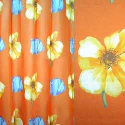 Вуаль помаранчева великі квіти