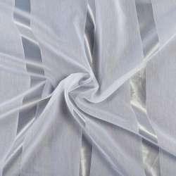 Вуаль біла з смужками 3см обважнення, ш.300