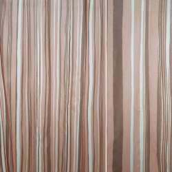 Вуаль в теракотово-коричневі і білі смужки ш.140