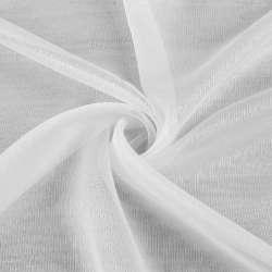 Вуаль тюль шифон смужки ниткові густі, біла з обважнювачем ш.300
