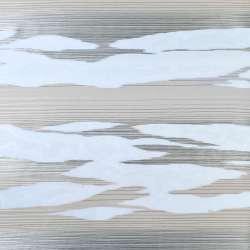 Вуаль деворе белая в серые и бежевые волны, ш.140
