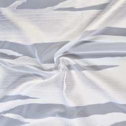 Вуаль деворе белая в молочно-бежевые волны, ш.140