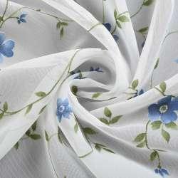 вуаль Деваре молочная с зелен.вьюнком и син.цвет.ш.280