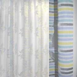 Деваре белое в желто-голубые полоски ш.280