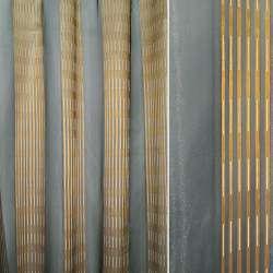 Органза серая темная с золотыми полосками, ш.300
