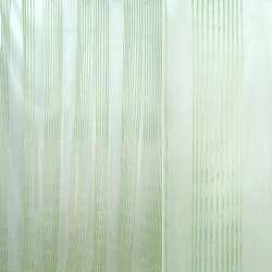 Органза кремовая со светло-зелеными полосками ш.300