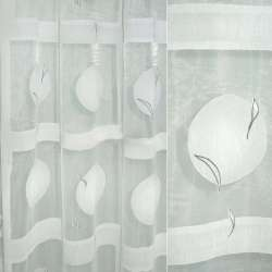 органза Деваре белая с серыми кругами в сер квад.ш.280