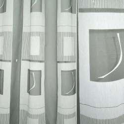 Органза деворе черно-белая в квадраты
