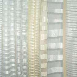 Органза деворе серо-бежево-персиковая в полосы
