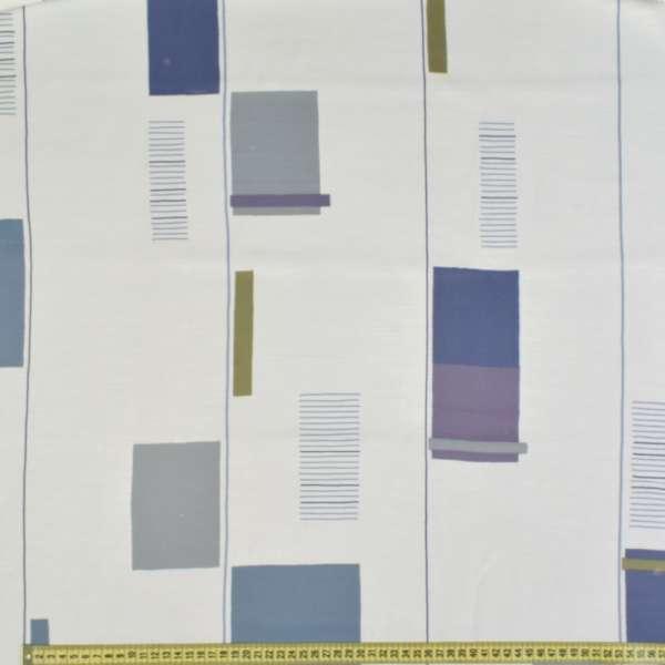 органза деваре белая с бежевыми цветными квадратами
