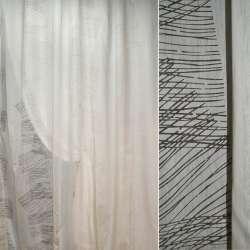 Напіворганза деворе сіро-бежева зі штрихами