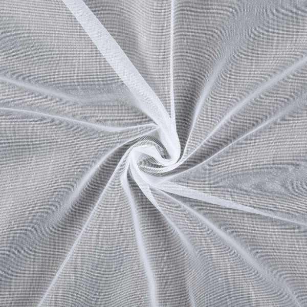 Лен гардинный белый с утяжелителем, ш.150