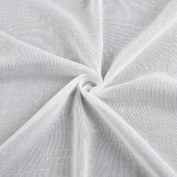 Льон гардинний штрихи ниткові, білий з обважнювачем, ш.300