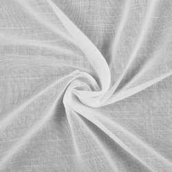 Лен гардинный белый, короткие штрихи, с утяжелителем, Германия, ш.300