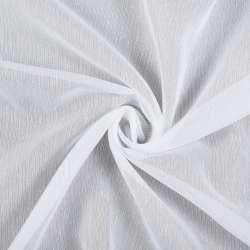 Лен гардинный белый в тонкие ниточные штрихи с утяжелителем, ш.300