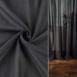 Льон гардинний сірий темний з обважнювачем, ш.300