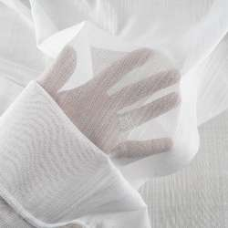 Льон гардинний нитки блискучі білий з обважнювачем, ш.300
