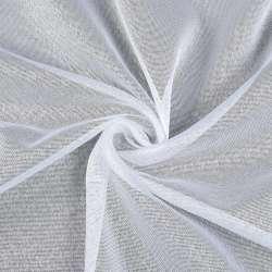 Лен гардинный белый в блестящие точки, с утяжелителем, ш.180