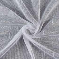Лен гардин. белый в уплотненные полоски и точки с утяжелителем, ш.260