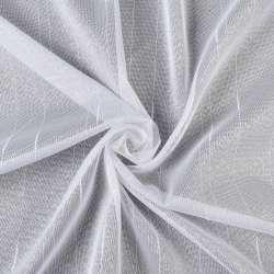 Лен гардин. белый узкие полоски с уплот. нитями с утяжелителем, ш.260