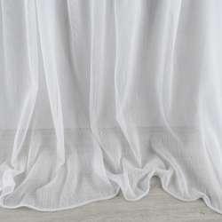 Льон гардинний смужки ниткові щільні, білий з обважнювачем, ш.300