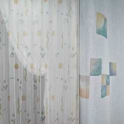 ткань гард.мол.со светло-корич.,син,зелен.квадр.ш.280