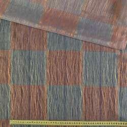 органза-фукре в крас-синий квад.с желт.нитью ш.325