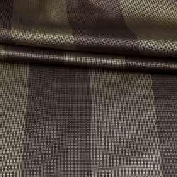 Микросетка в золотисто-коричневую полоску, ш.300
