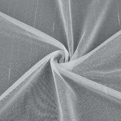 Мікросітка тюль смужки штрихи ниткові біла з обважнювачем, ш.150