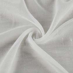 Мікросітка тюль штрихи ниткові, молочна з обважнювачем, ш.180