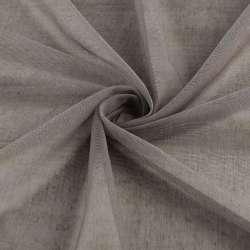 Мікросітка тюль коричнева матова з обважнювачем, ш.300