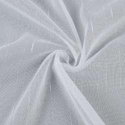 Мікросітка тюль смужки ниткові з ущільненнями, біла з обважнювачем, ш.300