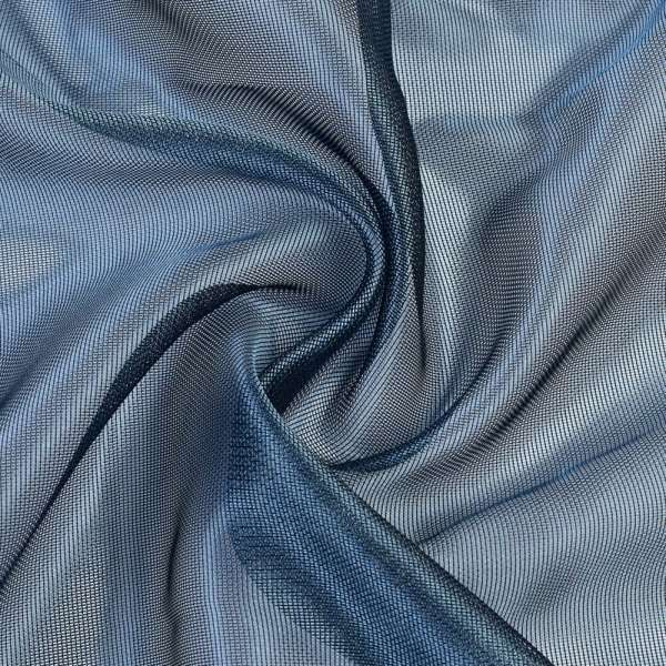 Микросетка хамелеон сине-серая, с утяжелителем, ш.300
