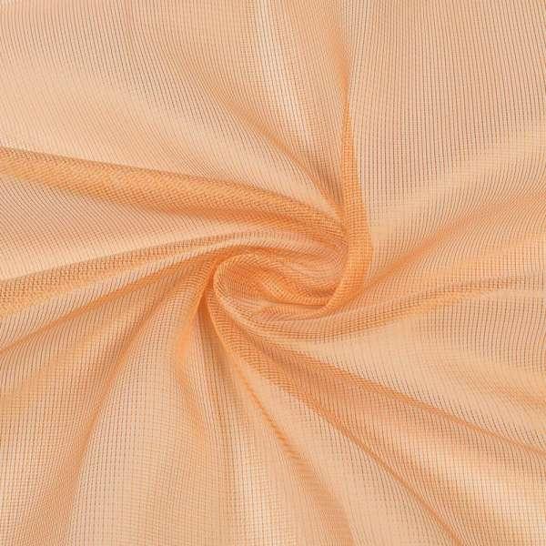Микросетка хамелеон оранжевая светлая, с утяжелителем, ш.300