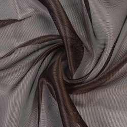 Микросетка хамелеон коричневая темная, с утяжелителем, ш.300