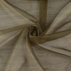 Мікросітка тюль хамелеон оливкова темна з обважнювачем, ш.300
