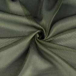 Мікросітка тюль хамелеон зелена з обважнювачем, ш.300