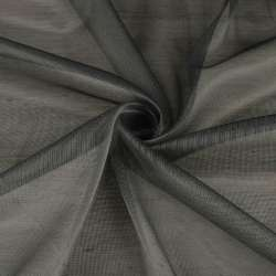 Мікросітка тюль хамелеон сіра темна з обважнювачем, ш.300