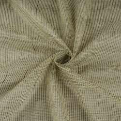 Мікросітка тюль смужки ниткові сірі, салатова світла з обважнювачем, ш.300