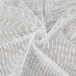 Сітка тюль з ниткою щільної білої, біла з обважнювачем, ш.300