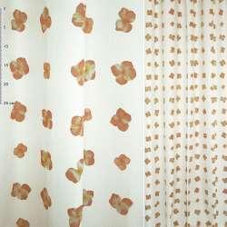 ткань порт. Деваре белая с рыж-желт.цветами ш.150