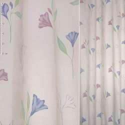 ткань порт. Деваре розовая с сирен. и гол. цветами ш.140
