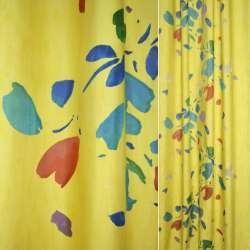 тк.порт.Деваре жлт.с розноцветными пятн.ш.160